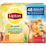 Lipton Gallon-Sized Black Iced Tea Bags, Unsweetened, 48 ct 8 Refreshing Lipton iced black tea from these convenient gallon-size bags Made with real tea leaves specially blended for iced tea Naturally Tasty & Refreshing Lipton Iced Black Tea is the perfect addition to any meal