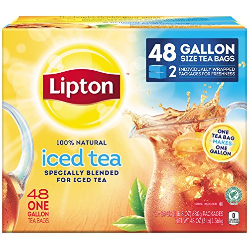 Serve Quick & Easy Quiche with Lipton Gallon Sized Black Iced Tea Bags, Unsweetened, 48 Count
