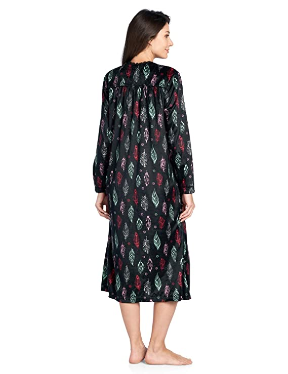 Ashford   Brooks Women s Micro Fleece Long Sleeve Nightgown  Amazon.co.uk   Clothing 84eb6452b