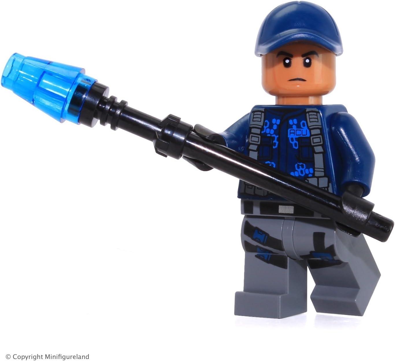 LEGO Jurassic World ACU Minifigure with Shocklance
