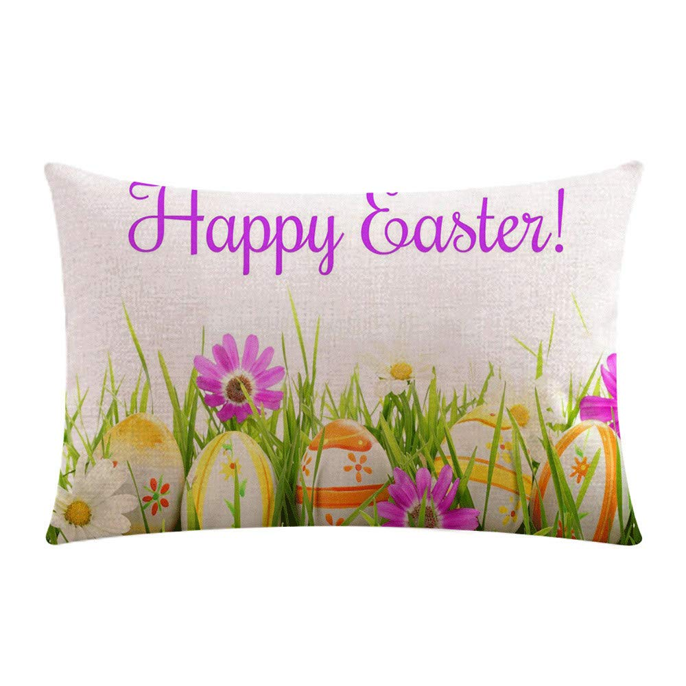 Weiliru Pillow Covers 18x18 inch Throw Pillow Cases Decorative Country Seasons Home Car Outdoor,Easter Decor