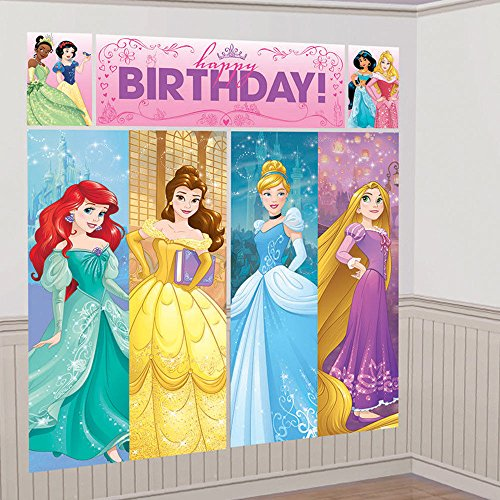 Nickelodeon Disney Princess Scene Setters Wall Banner Decorating Kit Birthday Party Supplies -
