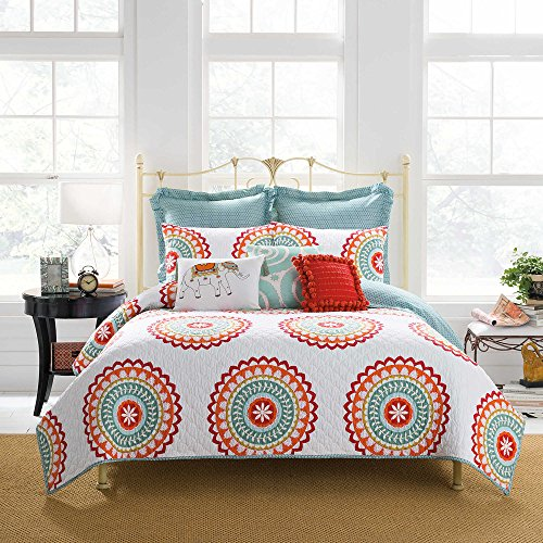 (Anthology Bungalow Quilted European Pillow Sham in Aqua)