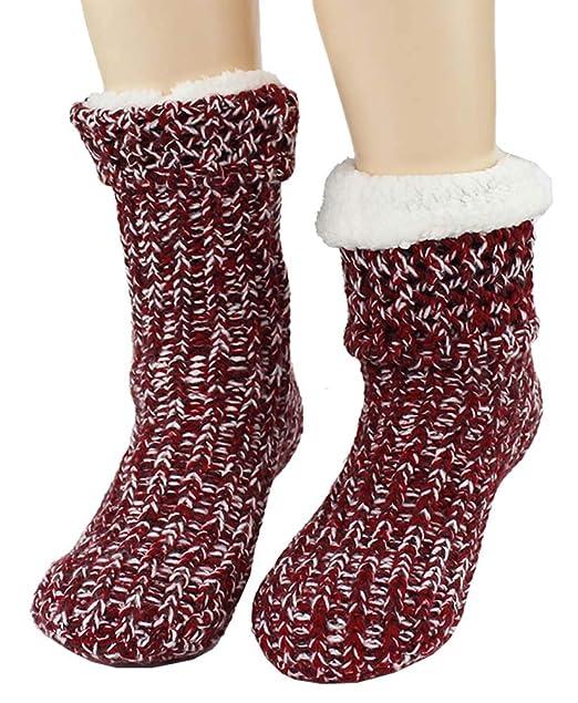 Black Temptation Calcetines gruesos de lana para piso Doble engrosamiento más calcetines de terciopelo, G4: Amazon.es: Ropa y accesorios