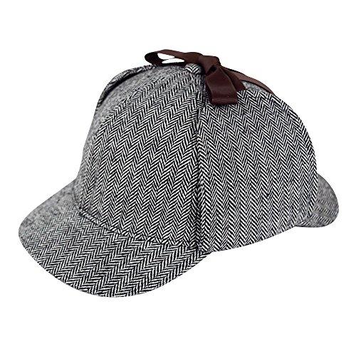 Sherlock Holmes Caps Detective Hats Deerstalker Cap Hat Props (L) -