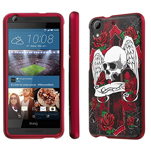 HTC Desire 626 / 626S Case, [NakedShield] [Rose Pink] Total Armor Protection Case - [Skull Wing] for HTC Desire 626 / (Htc Wing)
