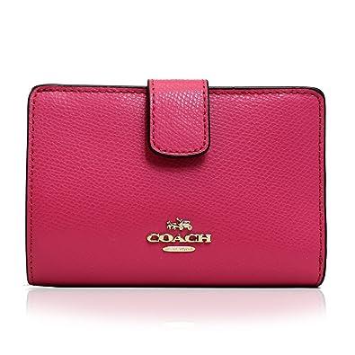 size 40 b360d 7b12c Amazon | (コーチ)COACH 二つ折り財布 ピンク レザー ミディアム ...