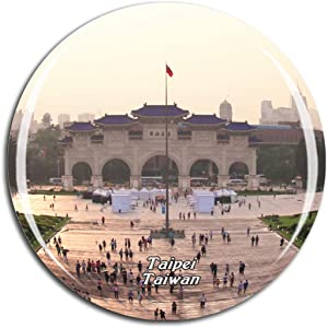 Weekino Taiwan Sun Yat-sen Memorial Hall Taipei Fridge Magnet 3D Crystal Glass Tourist City Travel Souvenir Collection Gift Strong Refrigerator Sticker