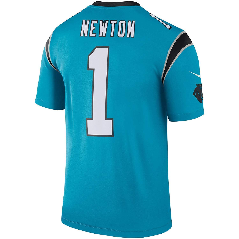 a1e019cc Amazon.com: Nike Cam Newton Carolina Panthers Color Rush Blue Legend ...
