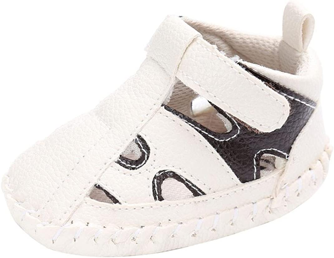 Voberry Baby Girls Boys Leather Sneakers Prewalker Soft Sole Toddler Shoes