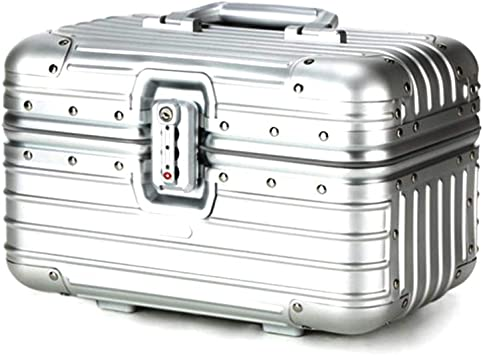Todo Aluminio Magnesio Aleación Trolley Estuche Metálico Estuche con Maleta Cosmética Maleta Maleta 12 Pulgadas Titanio Oro 12: Amazon.es: Equipaje