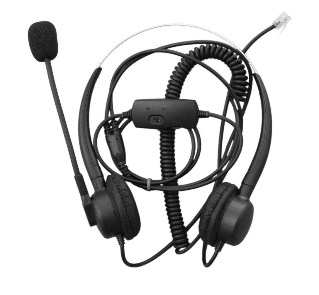 Volume Mute Contol for Nortel Networks Nt Nothern Telecom Meridian PBX Norstar M7208 M7310 M7324 T7208 T7316 M7900 Nec Electra Elite DTU DPT Series E Mitel Siemens Rolm Polycom Toshiba Avaya Lucent Voip Comdio CH203VA5 Corded Headset Headphones Ear Phone