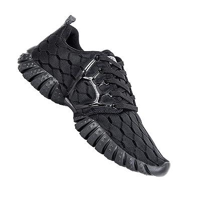 6720d6935 ALEADER Women's Lightweight Mesh Sport Running Shoes Carbon Black 5.5 D(M)  US