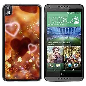 Be Good Phone Accessory // Dura Cáscara cubierta Protectora Caso Carcasa Funda de Protección para HTC DESIRE 816 // Love Bokeh