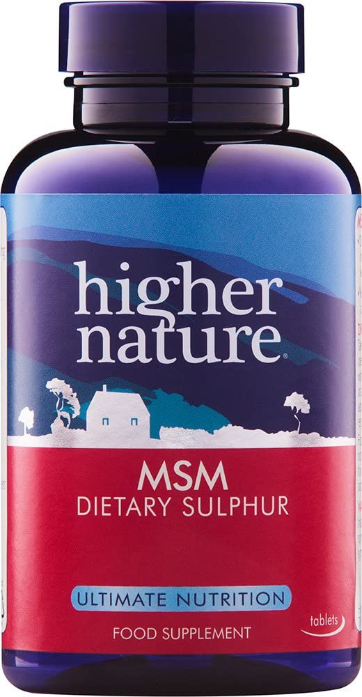 Higher Nature Msm Sulphur 180 Tablets