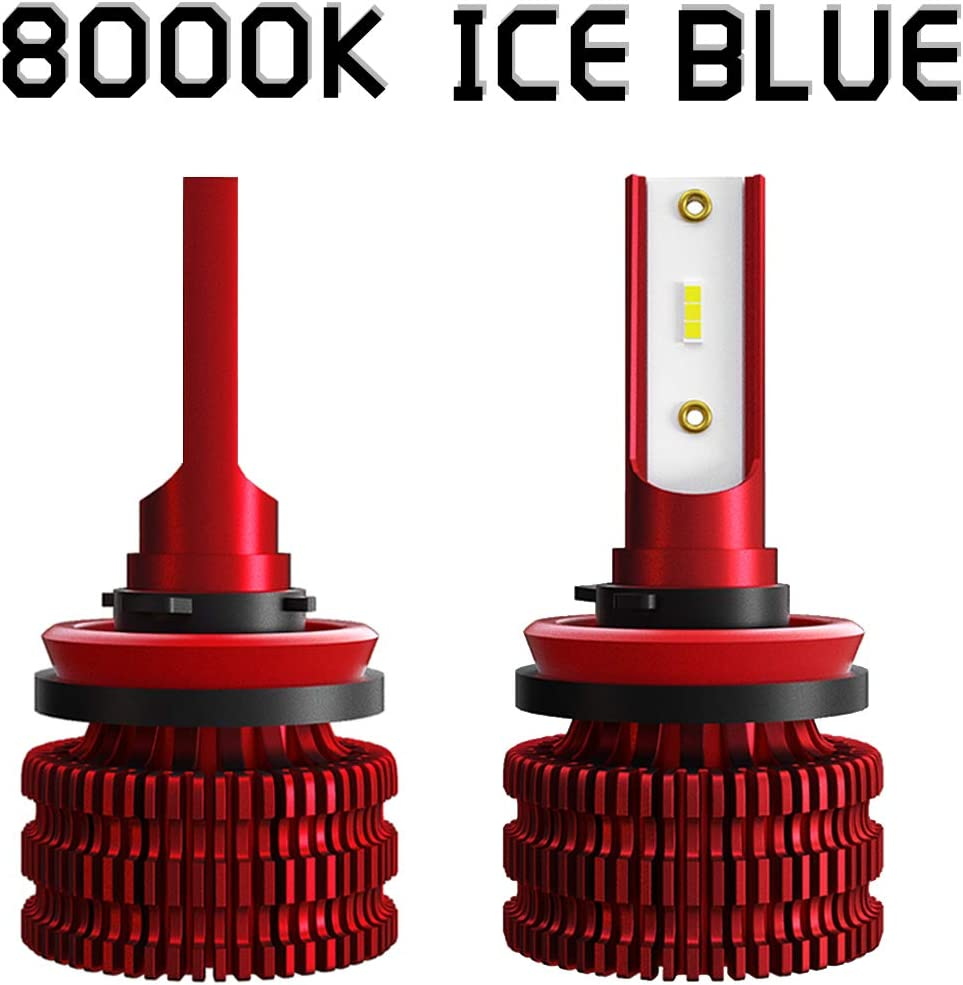 8000K , 9005//HB3//H10 A-Partrix K5 LED Headlight Bulb 35W 8000 Lumens Xenon White Extremely Bright All-in-One Conversion Kit-2 Packs Blue