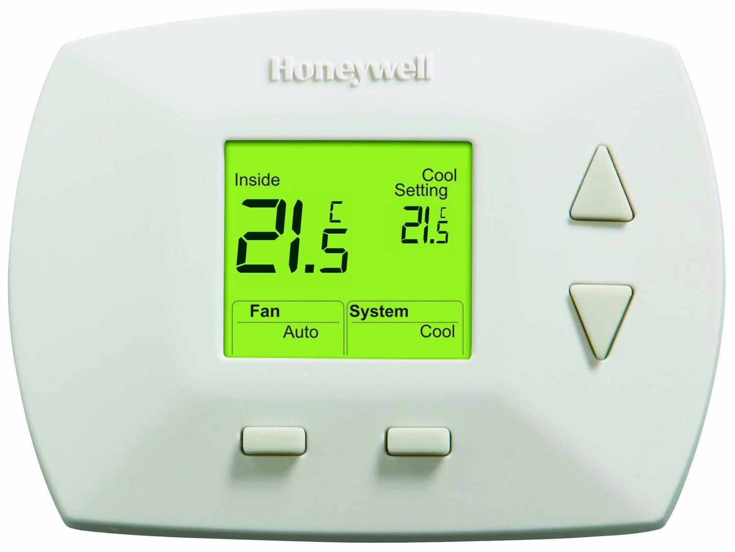 Heat Cool Honeywell Rth5100b1033 A 1025 Deluxe Manual Thermostat White