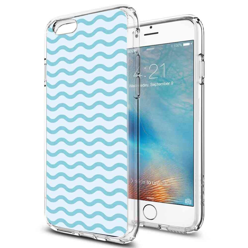 Amazon com: Blue Graphic Waves Compatible with Apple iPhone 6 Plus