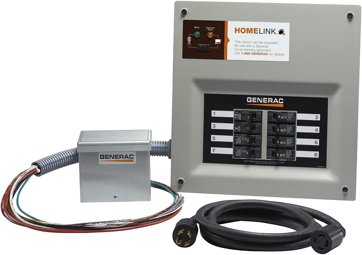 Amazon.com: Generac 6854 Home Link Upgradeable 30 Amp Transfer Switch Kit  with 10' Cord and Aluminum Power Inlet Box: Garden & OutdoorAmazon.com
