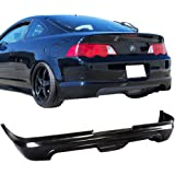 Rear Bumper Lip Fits 2002-2004 Acura RSX | MUG Style Unpainted Black PU Rear Splitter Spoiler Valance Chin Diffuser Body Kit by IKON MOTORSPORTS | 2003