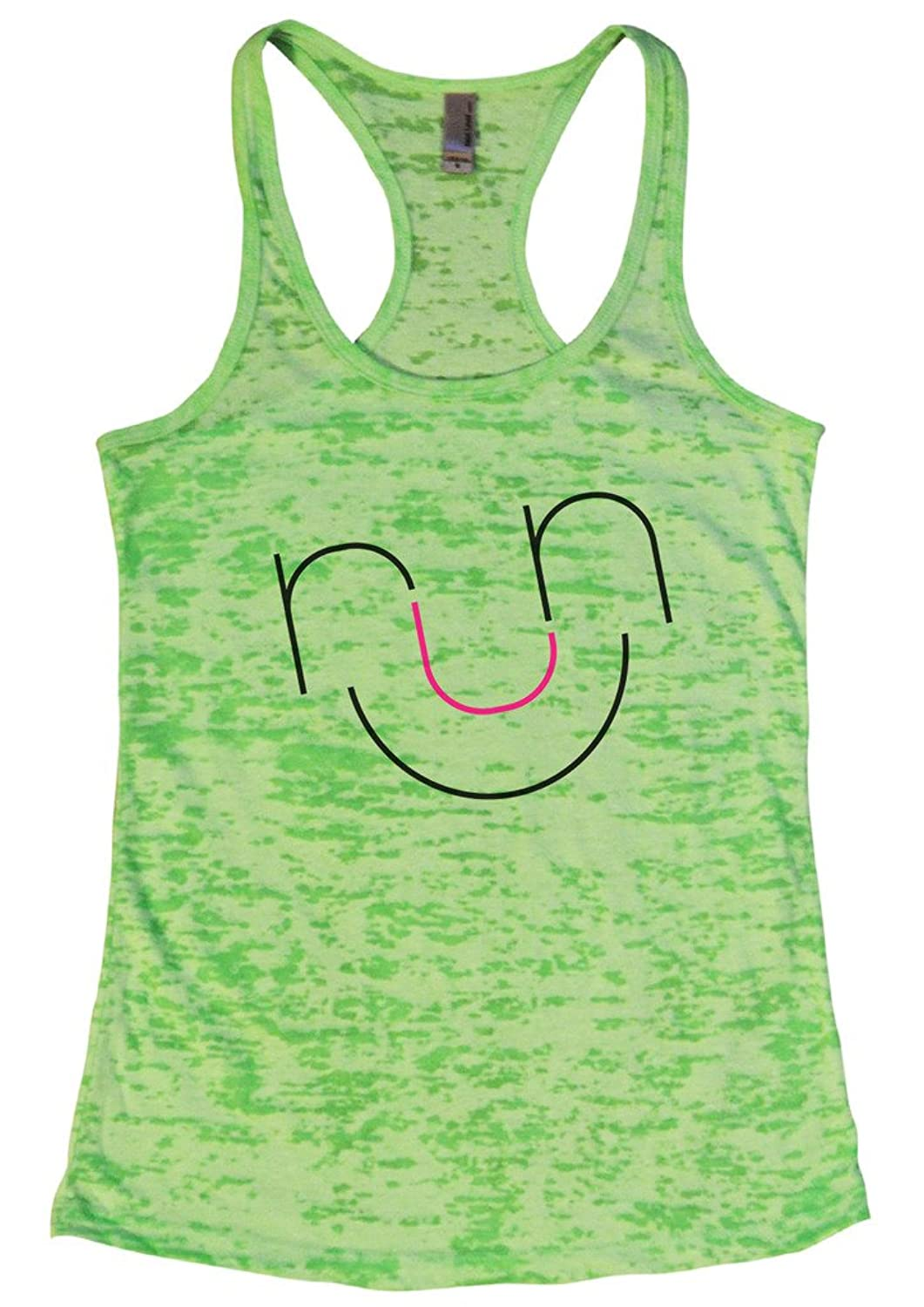 Womens Burnout Running Track and Field Tank Top 鈥淩unning Smile鈥