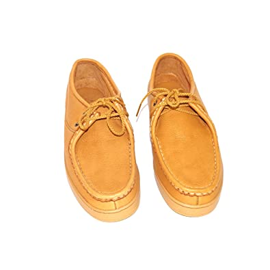 Men's Minnetonka Moccasins (#930)  Color Natural Moosehide  Men's Slip-On Moccasin