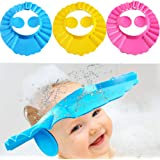 Baby Shower Cap Bathing Cap - 3 Pcs Soft Adjustable Visor Hat Safe Shampoo Shower Bathing Protection Bath Cap for…