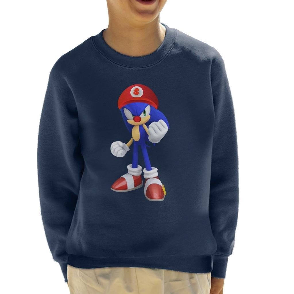 Cloud City 7 Sonic The Hedgehog Vs Super Mario Kids Sweatshirt
