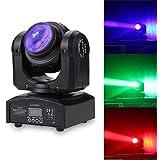 Lixada DMX 512 Luz de Escenario, 2 LED 35W RGBW, 15/21 Canal, Lámpara de Patrón de Luz de la Etapa LED de Cabeza Móvil Giratoria Infinita de haz Doble Lados para Disco KTV Club Fiesta