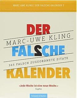Der Falsche Kalender Amazon De Marc Uwe Kling Bã Cher