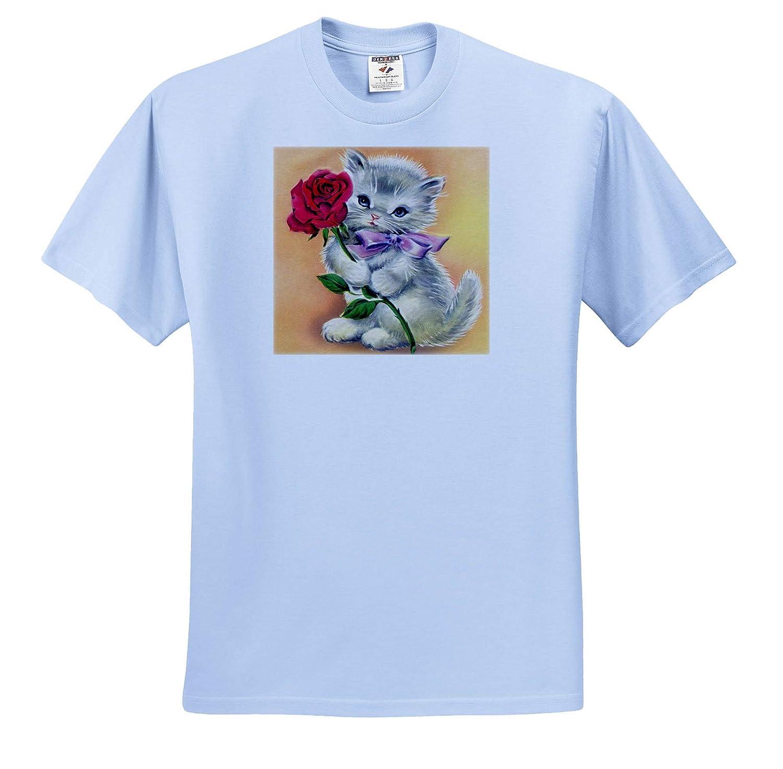 T-Shirts 3dRose Cassie Peters Cats Vintage Kitten
