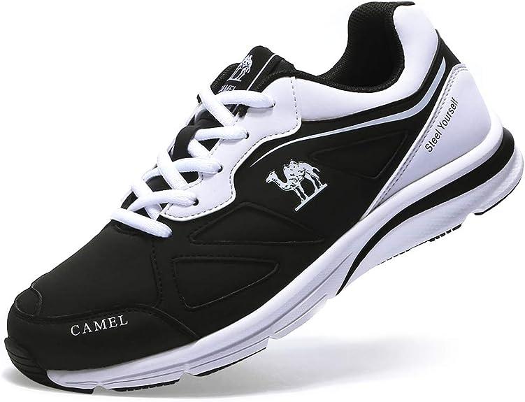 CAMEL CROWN Zapatillas Deporte Mujer Running Sneakers Cuero Correr Deportivos Entrenamiento: Amazon.es: Zapatos y complementos