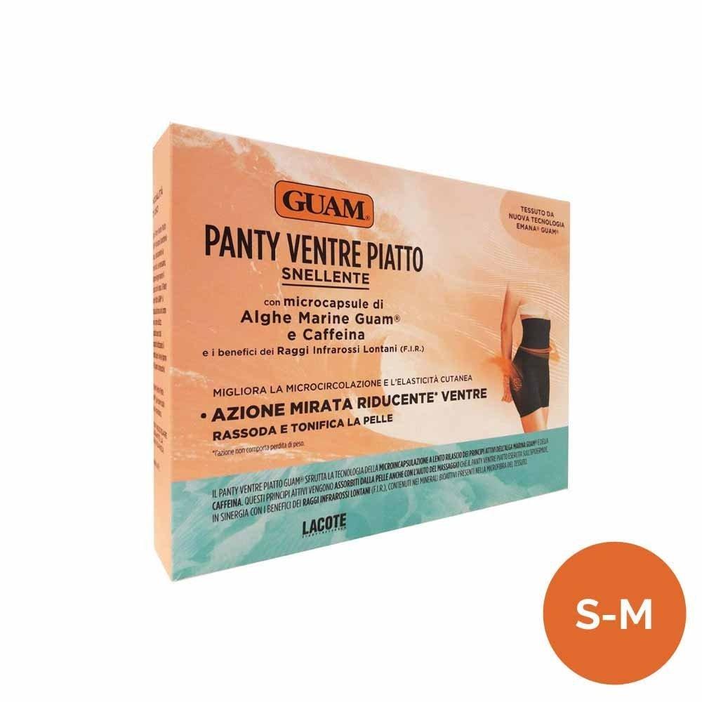 GUAM - PANTY VENTRE PIATTO colore NERO con microcapsule di Alghe Marine e Caffeina (S/M (42-44))