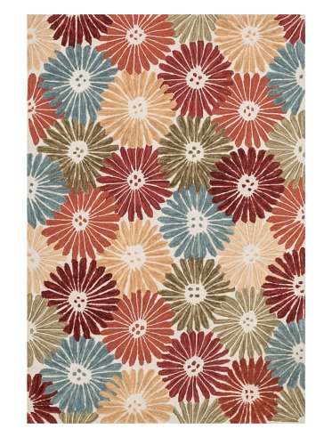 Loloi Rugs, Gabriella Collection - Floral / Multi Area Rug, 5' x 7'-6
