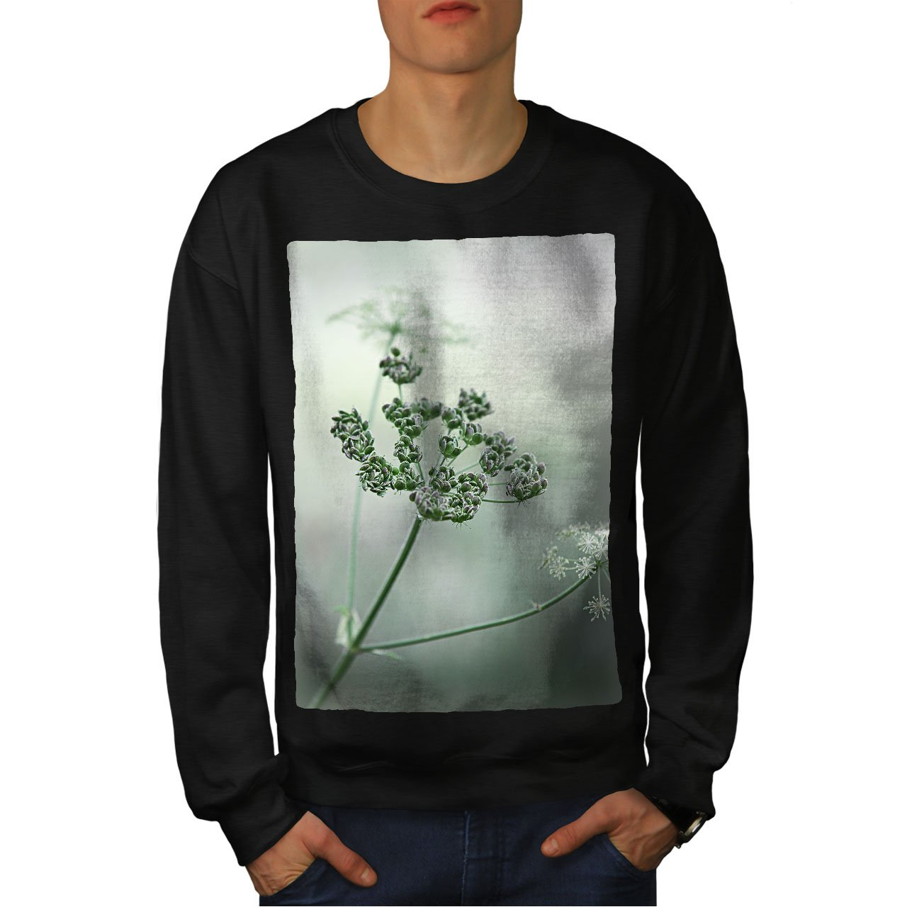 wellcoda Flower Plant Photo Mens Sweatshirt Wildlife Casual Jumper