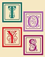 TOYS Set of 4 Monogrammed Letters - Primary Classroom Wall Art