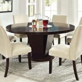 247SHOPATHOME IDF-3556T-7PC Dining-Room-Sets, 7-Piece, Espresso
