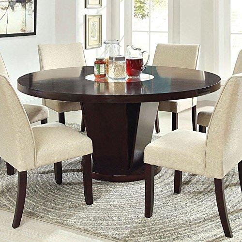 247SHOPATHOME IDF-3556T-7PC Dining-Room-Sets, 7-Piece, Espresso