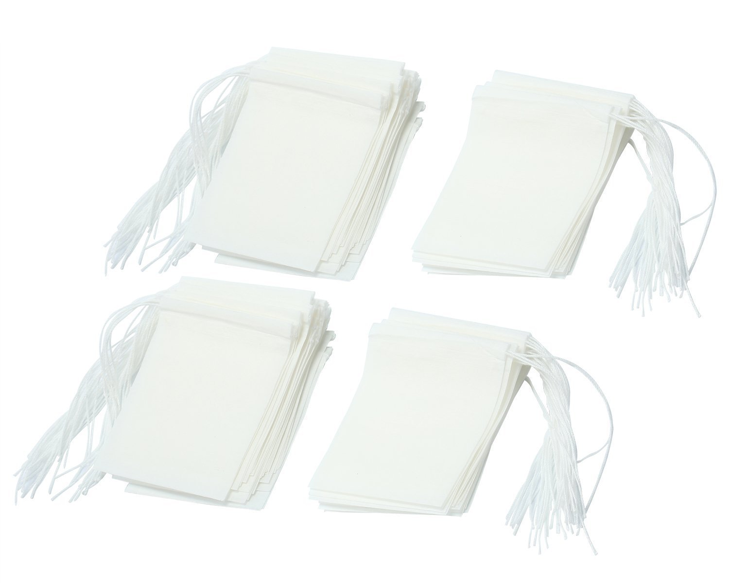 TFXWERWS Approx.100pcs Drawstring Seal Filter Empty Paper Tea Bag (White)