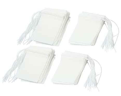 niceeshop(TM) Bolsas de Papel del Filtro de Té de Bombeo Línea de Desechable (Blanco, M Tamaño, Conjunto de 100)