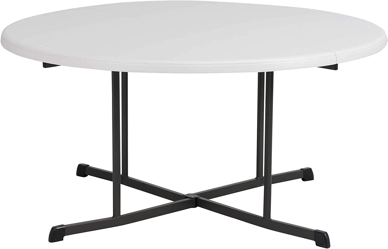 - Amazon.com: Lifetime Commercial Round Fold-in-Half Table, 60-Inch