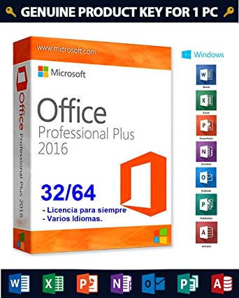 Office 2016 Professional Plus For Windows 1 PC