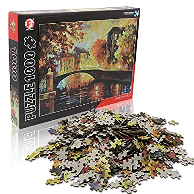 TOYUMA Jigsaw Puzzles 1000 Pieces for Adults- Fall Sunset: Toys & Games