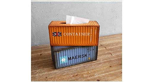 Beauqueen Retro Nostalgische Metall Wohnzimmer Dekoration Container Modell  Tissue Box Pumping Papierkartons , G