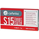Cafetto E25570 S15 Tablets Espresso Machine Cleaner, 1.5g x 8, Red