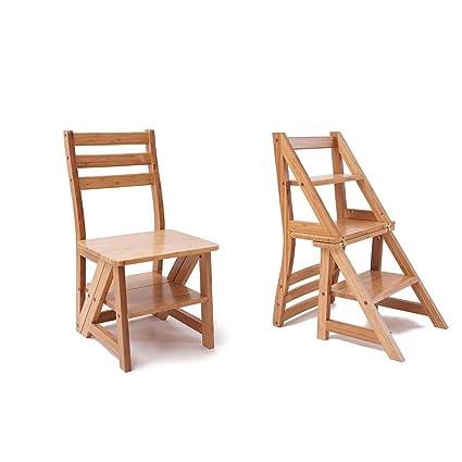 Silla de madera plegable Madera de pino Multifunción Silla ...