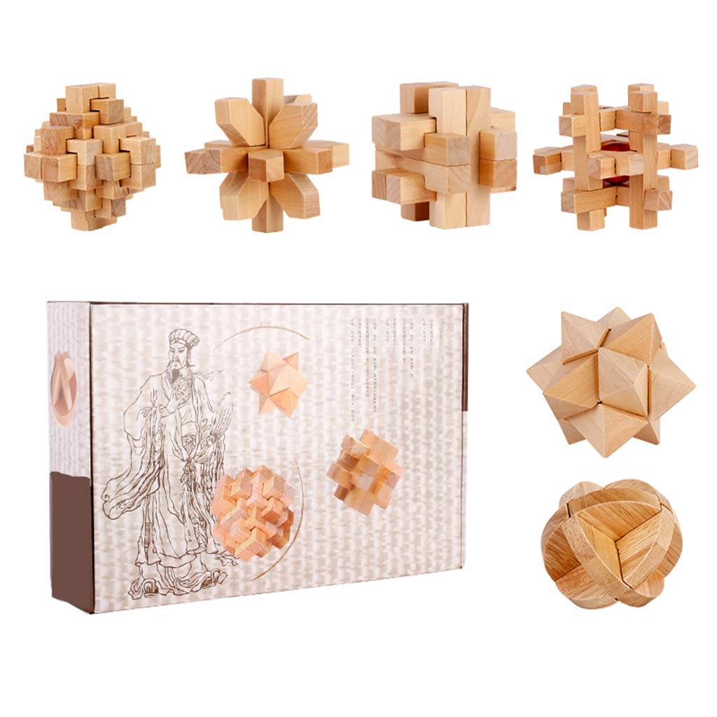 ZDNALS Kids Toys|Solid Wood Learning, Geometric Educational Toy Blocks | Six-Piece Kids Toys by ZDNALS
