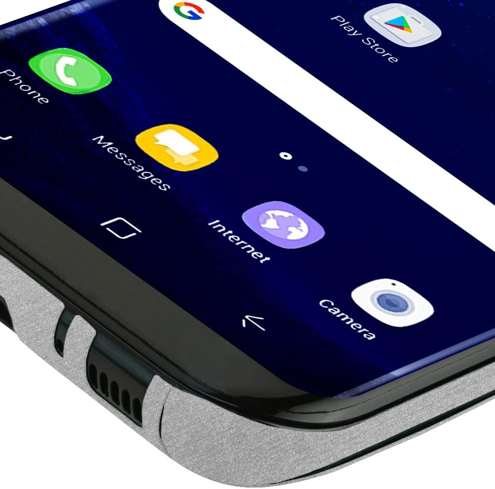 Full Coverage S8+ TechSkin with Anti-Bubble Clear Film Screen Protector Skinomi Brushed Aluminum Full Body Skin Compatible with Galaxy S8 Plus