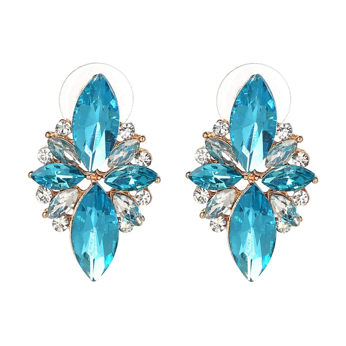 Liliynice 4 Colors New Fashion HOT Women Stud Earrings Crystal Vintage Korean Earrings Trendy Cute Lovely Drip Flower Shiny Wholesale