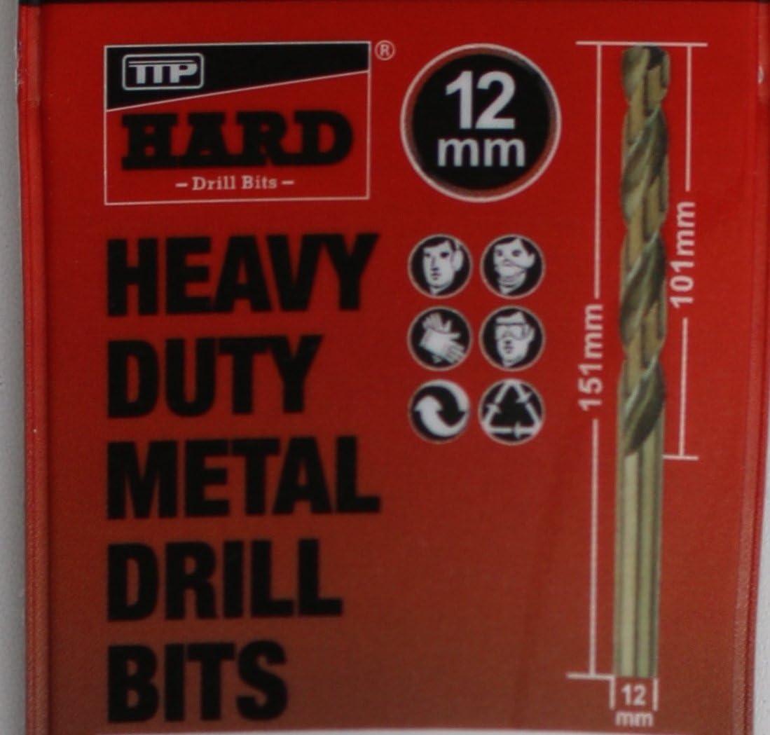 Brocas de metal PTT 12 mm 1 x broca cobalto mayor para taladrar trabajan más duro de lo metales aluminio cromado acero inoxidable hierro fundido larga ...